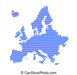 strips., europe, silhouette