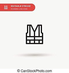 stroke., moderne, couleur, simple, conception, icônes, pictogramme, illustration, gabarit, ui, icon., element., toile, parfait, editable, mobile, vecteur, business, projet, ton, gilet, symbole