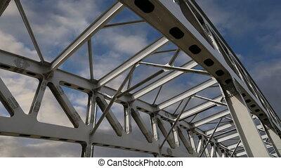 structure, métal, pont