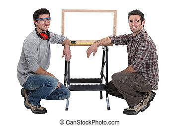 studio, charpentiers, coup