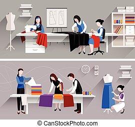 studio, couture, conception, gabarit