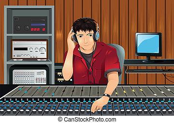 studio musique, producteur