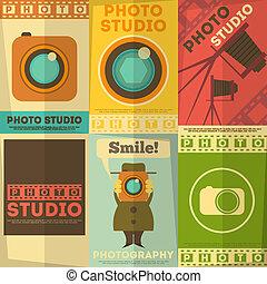 studio photo, affiche