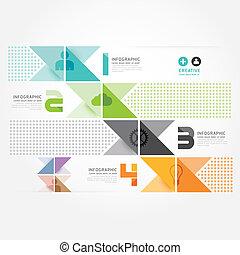 style, être, ou, boîte, minimal, moderne, template., site web, .graphic, infographics, vecteur, infographic, conception, utilisé, disposition