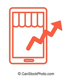 style, alignez-vous, randonnée, coût, infographic, flèche, smartphone