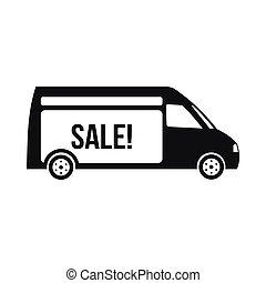 style, camion, simple, livraison, icône