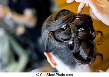 style cheveux, mariage