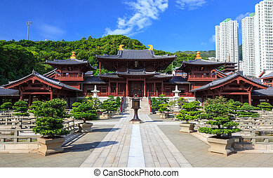 style, chinois, saveur forte, chi, lin, c, hong kong, couvent, temple, dynastie