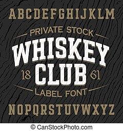 style, club, police, vendange, whisky