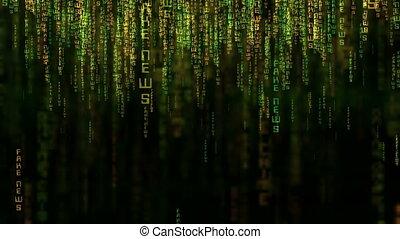 style, code, matrice, données, faux, concept, nouvelles, ligne