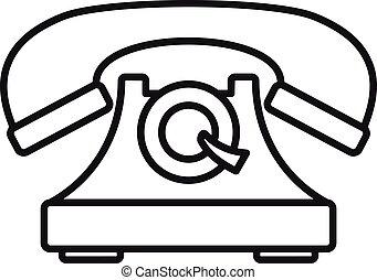 style, contour, téléphone, emmagasiner icône
