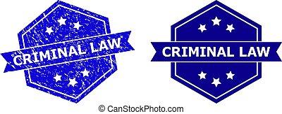 style, criminel, hexagone, cachet, droit & loi, propre, variante, caoutchouc