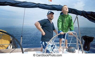 style de vie, famille, voyage, yacht, caucasien, santé, luxe, groupe, tourisme, assurance