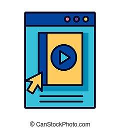 style, ebook, webpage, education, gabarit, ligne, ligne, remplir, icône