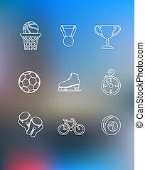 style, ensemble, sport, contour, icônes