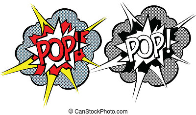 style, explosion, dessin animé, pop-art