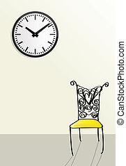 style, griffonnage, concepts, attente, dépassement, temps, illustrations