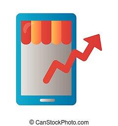 style, haut, randonnée, degradient, coût, infographic, flèche, smartphone
