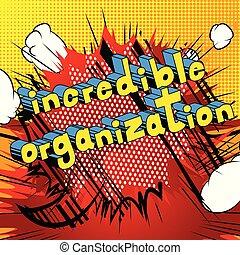 style, incroyable, -, livre, phrase., organisation, comique
