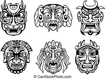 style, masques, religieux, tribal