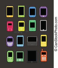 style, mobile, résumé, moderne, vendange, gadgets