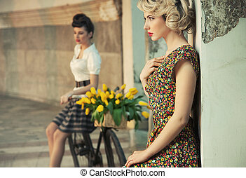 style, mode, femmes, magnifique, photo