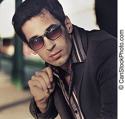 style, mode, photo, élégant, homme, beau