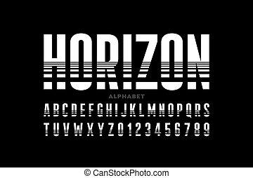 style, police, ligne horizon, condensed