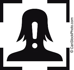 style, simple, figure, icône, alerte, reconnaissance