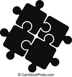 style, simple, puzzle, solution, collaboration, icône