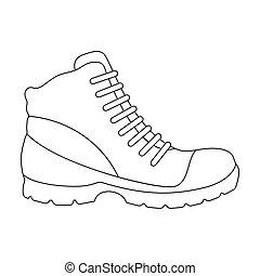 style, stockage, raster, hommes, symbole, désinvolte, illustration., contour, icône, chaussures, gris, oxfords., .different, unique, printemps, automne, bitmap