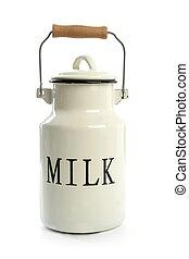 style, urne, traditionnel, paysan, blanc, lait, pot