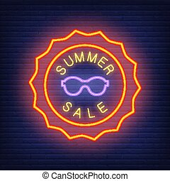 style, vente, été, néon, lettrage
