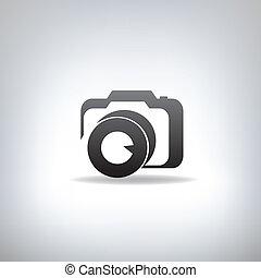 stylisé, appareil-photo photo