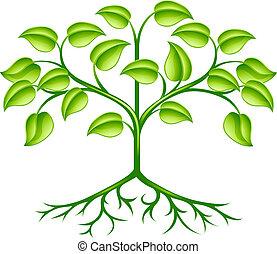 stylisé, arbre, conception