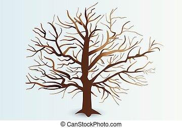 stylisé, branches, arbre, logo