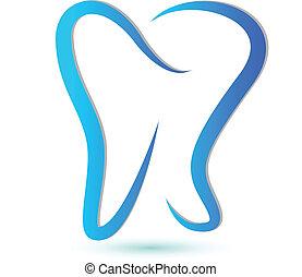 stylisé, logo, dent