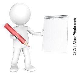 stylo, paper.