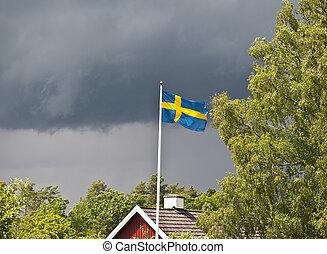 suédois, pluvieux, été