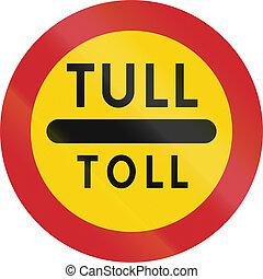 suédois, utilisé, -, signe, norvégien, suède, sonner route
