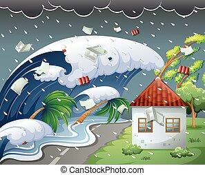 succès, tsunami, recours plage