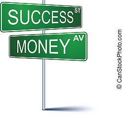 success-money, direction, signe.