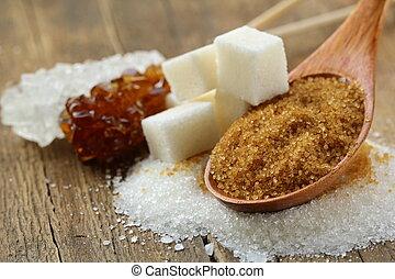 sucre, types, différent