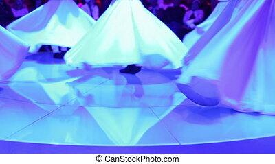 sufi, coup, exposition, métrage, danseurs, sema, élevé, inclure, pendant, derviche, audio, qualité, cérémonie