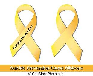 suicide, rubans, prévention