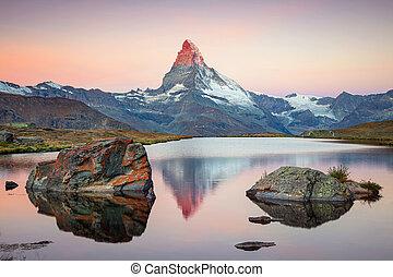 suisse, alps., matterhorn
