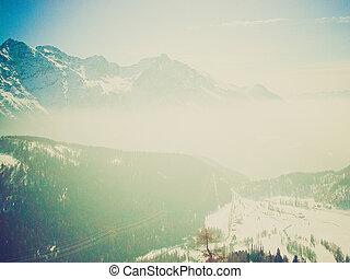 suisse, bernina, regarder, retro