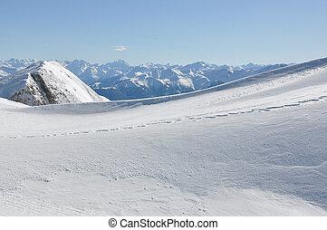 suisse, congères, alpes
