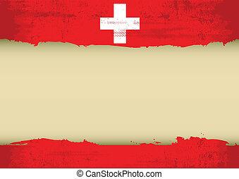 suisse, gratté, drapeau
