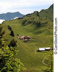 suisse, montagnes, chalet